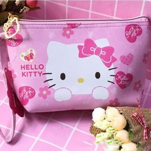 Hello Kitty Cosmetic Bag Pink with Pink Bows